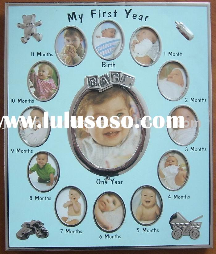 baby photo frame, wall decoration,12 months Baby Photo Frame