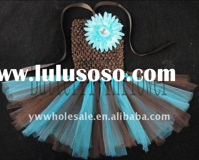 baby tutus/colorful flower dresses/ crochet girl tutu dress