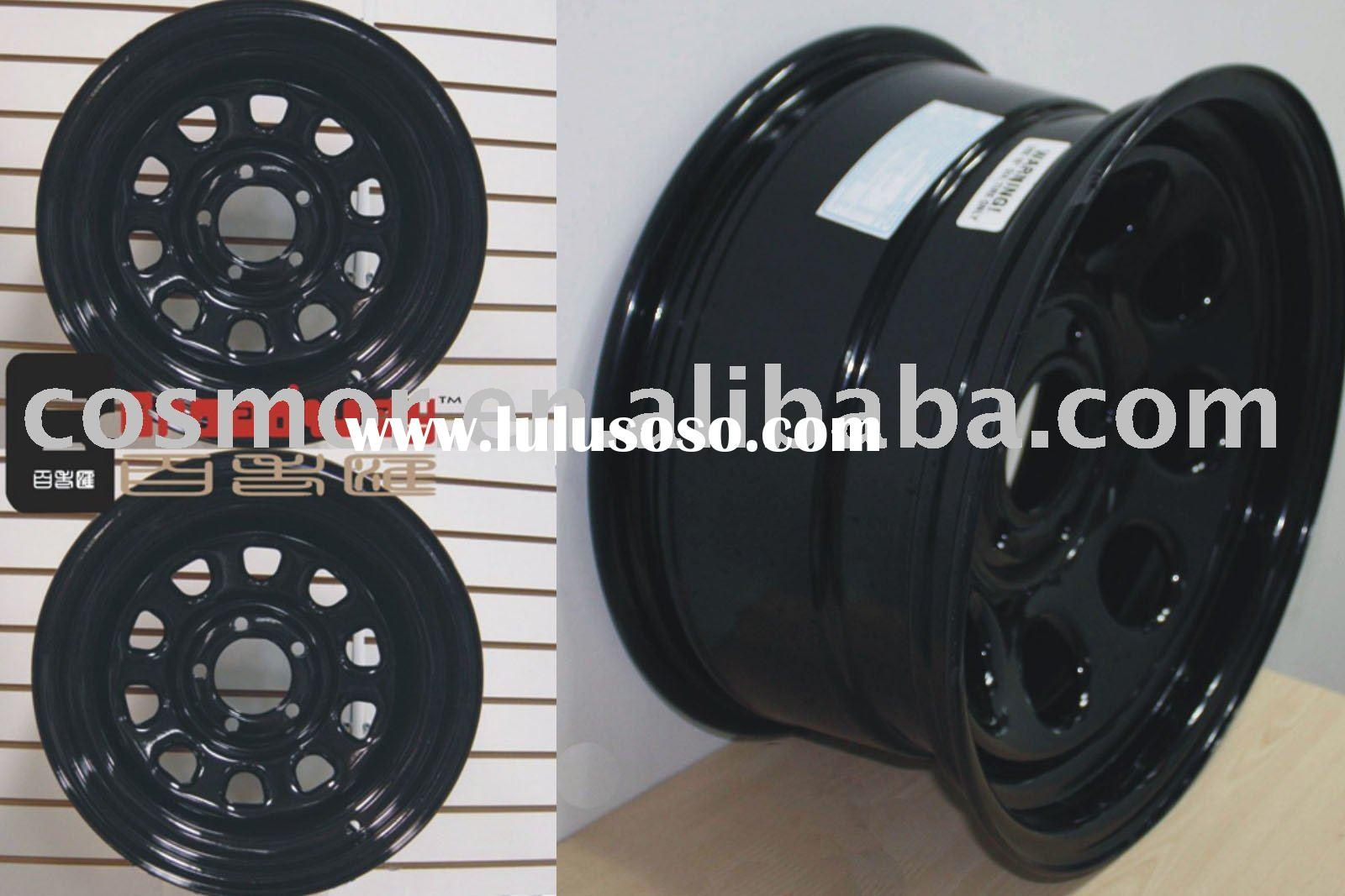 black steel wheel rims