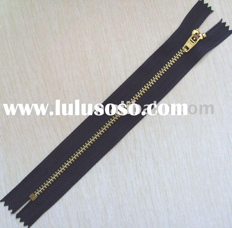 brass closed end zipper