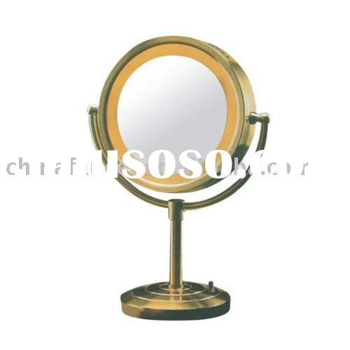 brass cosmetic mirror(mirror with light,make up vanity mirror)