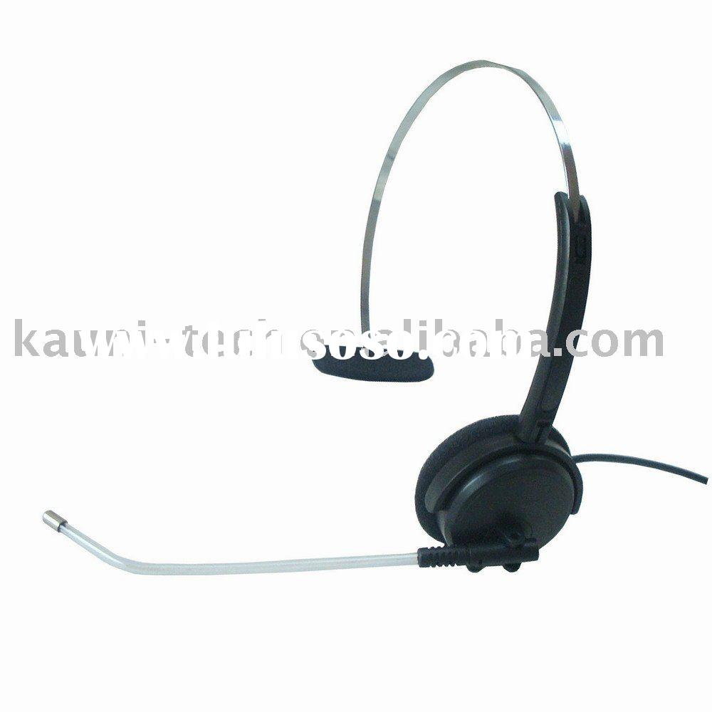 call center telephone headset with RJ11 plug