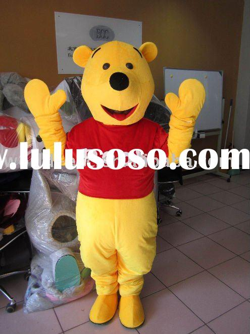 carnival Winnie the pooh costume,movie cartoon costume,fancy dress costume