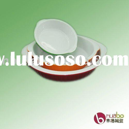 ceramic dish,different colors dish set