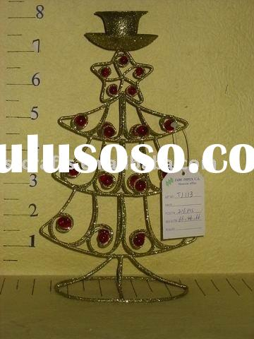 christmas iron wire tree with candle stand/christmas decorative candle holder