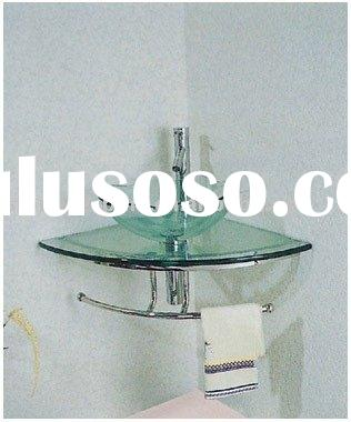 console glass vanity sinks, , glass wash basin