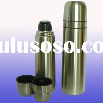 convenient stainless steel vacuum thermos flask with double lids