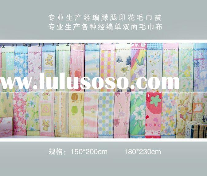 cotton printed towel blanket