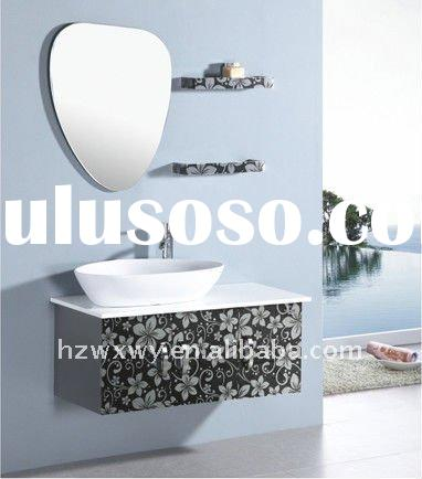 countertop stainless steel bathroom cabinet and sinks