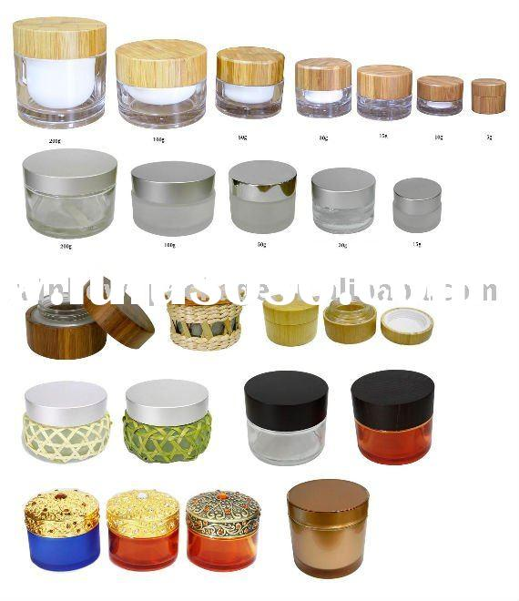 decorated glass jars and lids