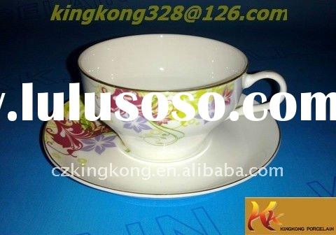 eggshell china and porcelain tea cup and saucer set