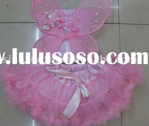 fairy princess chiffon flower girl dress