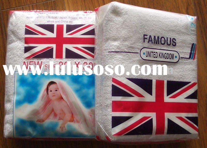 famous cotton terry baby diapers