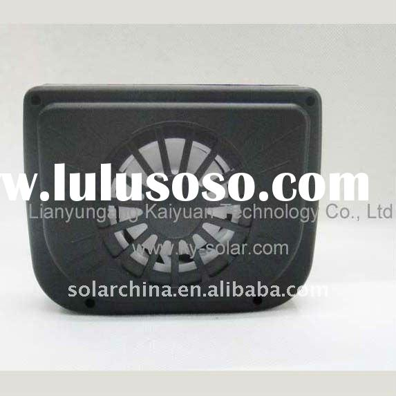 fan solar powered vents for car cooling system