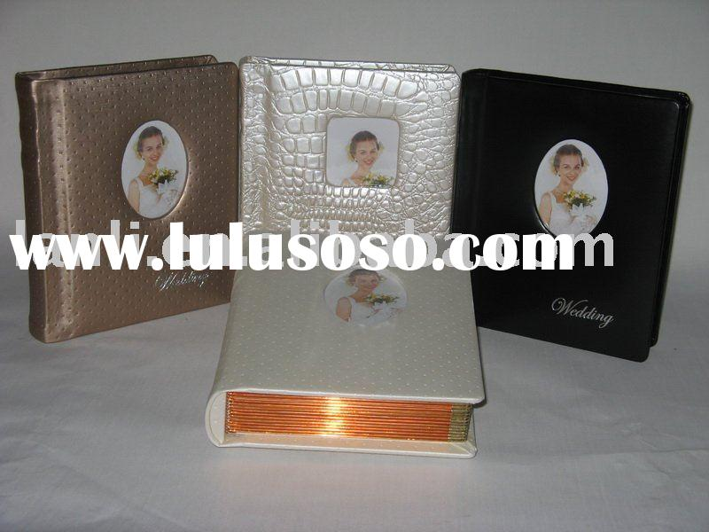 fancy photo album with digital inner sheets leather cover