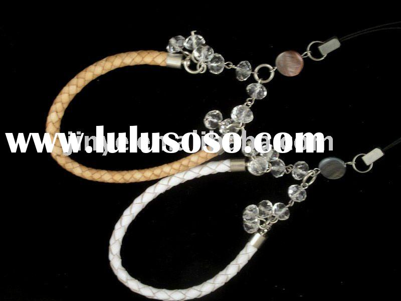 fashion beaded jewelry braid leather wrist band