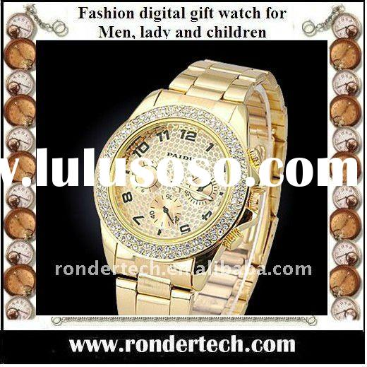 fashion stainless steel band japan movement diamond watch