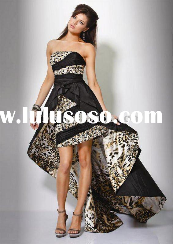 fashion tiger fabric prom dress/evening dress SD1422