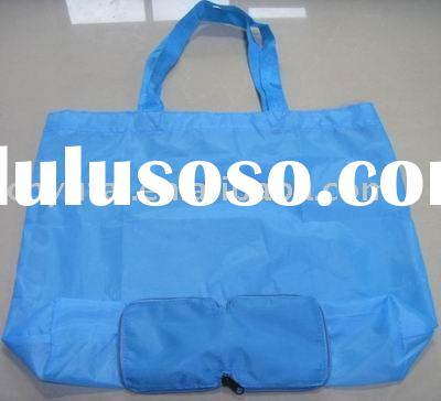 folding tote bag with zipper,foldable tote bag,fold shopping bag