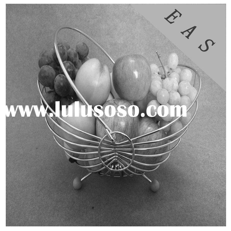 fruit and vegetable stand metal fruit gift basket chrome wire fruit basket