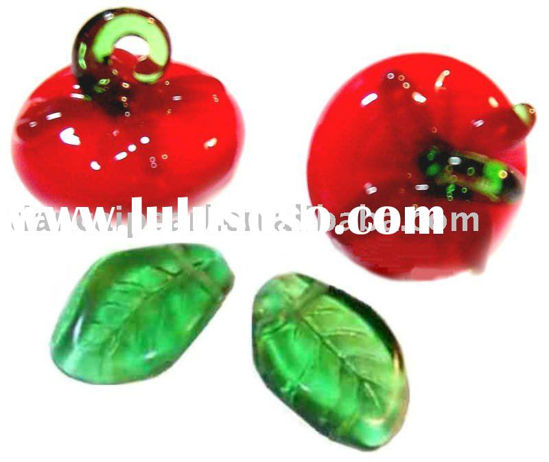fruit vegetables tomato glass beads for bracelets necklace