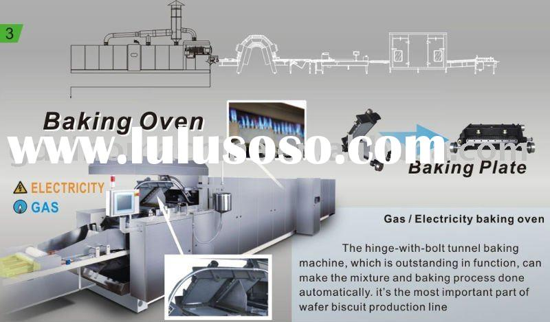 fully automatic wafer biscuit baking oven