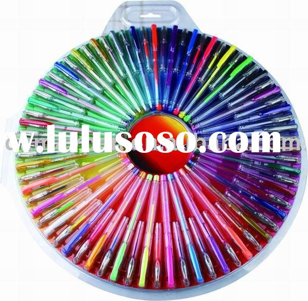 gel pen set.color gel ink,