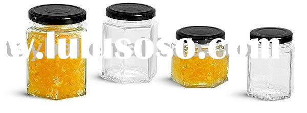 glass bottle for jam/ glass food jar/ glass honey jar/glass pickles jar