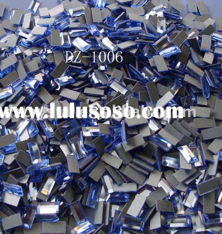 glass flat mirror loose bead for shoes garments bags accessory decoration