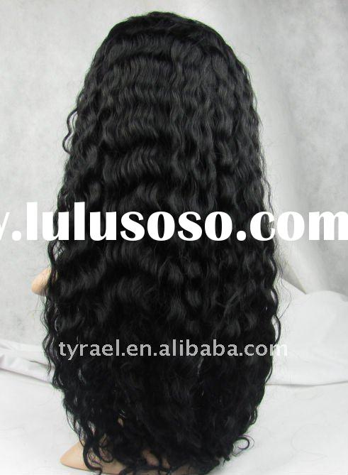 glue less deep wave silk top full lace wigs made by 100% Mongolian remy human hair