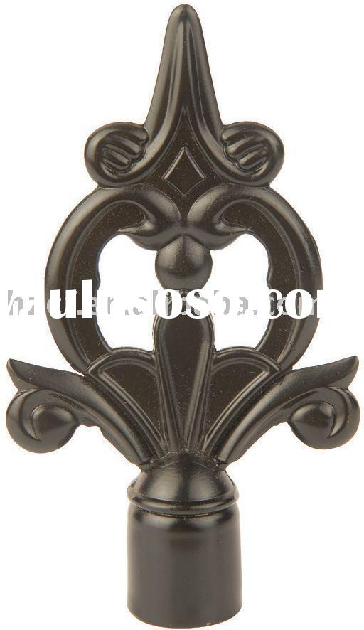 handmade curtain rod finials,rattan curtain pole finials,plush curtain pole finials