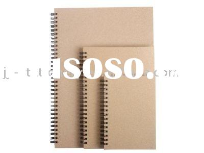 hard cover brown colour spiral notebook