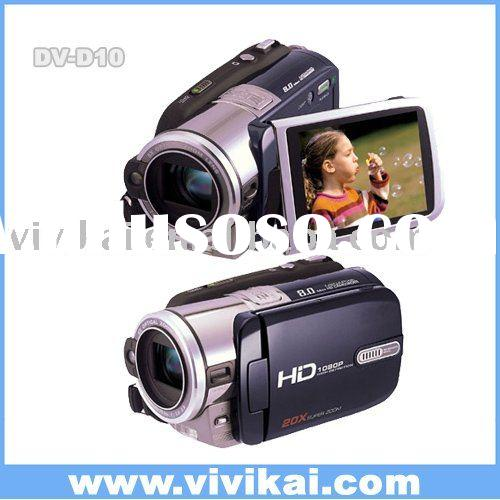 high end professional full HD1080P digital video camera/video camcorder/still camera with 5X optical