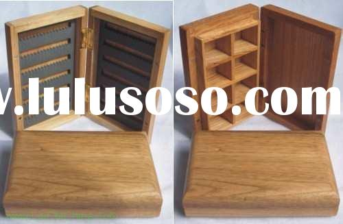 high quality slippery bamboo Wooden fly box