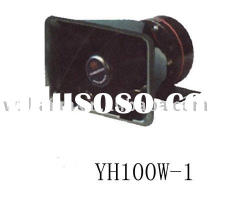 horn speaker,loud speaker,horn speaker,amplifier,police car alarming siren and horn