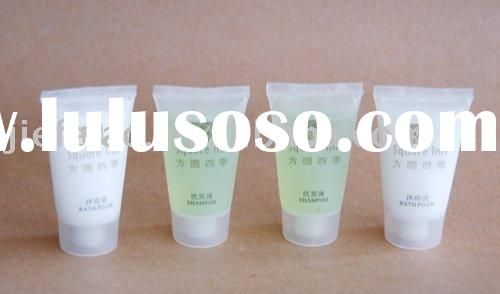 hotel shampoo, bath gel, body lotion, hair conditioner