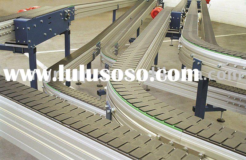 industrial plastic table top chain conveyor