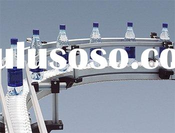 industrial production line plastic and metal bottle conveyor system