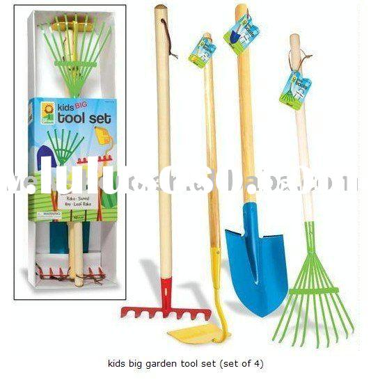 kids big garden tool set (set of 4)