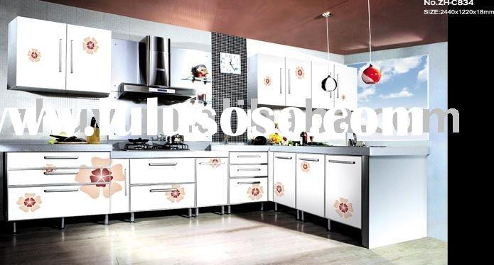 kitchen furniture; cabinet door from uv color painting panel