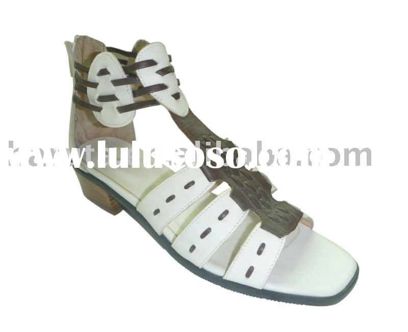ladies fashion sandal 2011 summer, leather sandal for women 2011