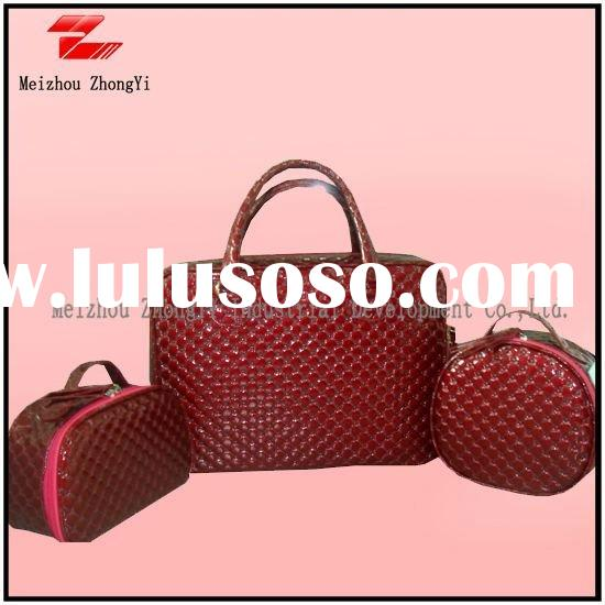 leisure PU leather handbags designer nice bags for women