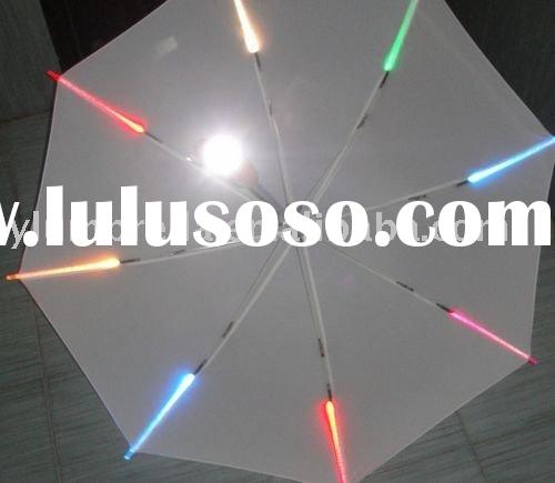 light up umbrella,led umbrella,led flashlight umbrella