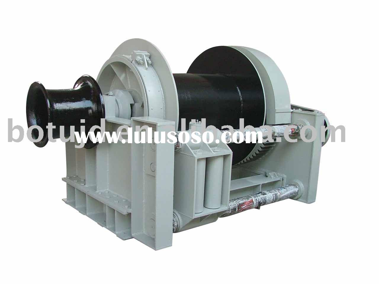 marine electric wire rope anchor winch