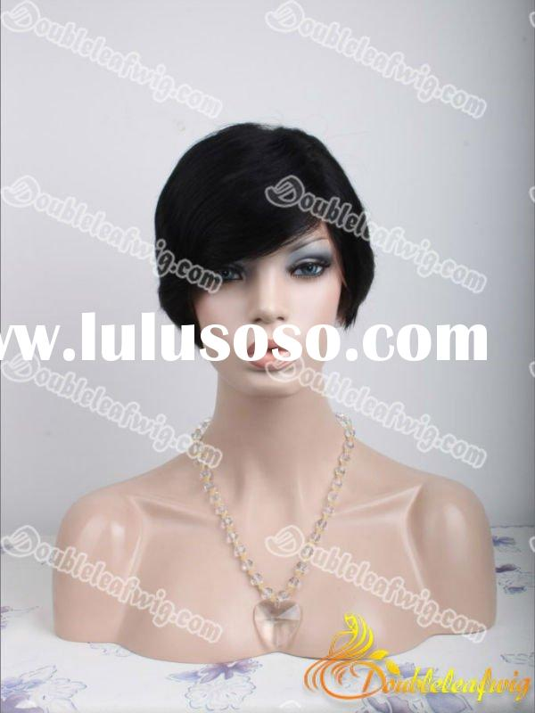 men and women short human hair lace wigs