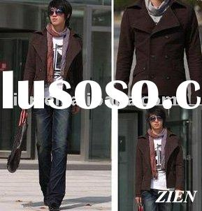 men's double breasted short trench coat