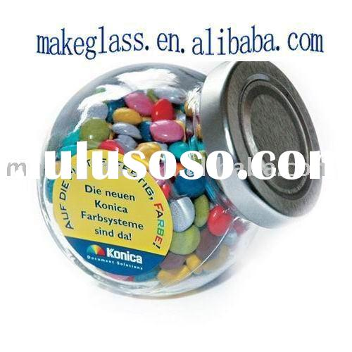 mini glass candy jar with metal lid