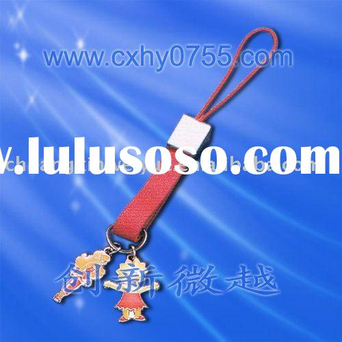 mobile phone lanyard hanging decoration and a red leather handle MS030