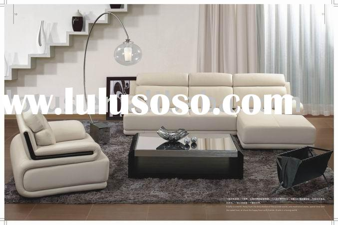 modern design leather sofa set modern style leather imported from Italy quality compare to steel-lan