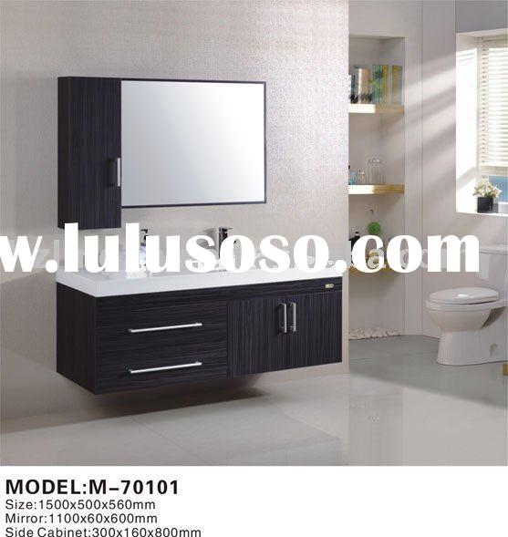 modern style solid wood bathroom vanity with mirror cabinet,basin and faucet
